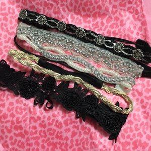 Accessories - 5 Beautiful Embellished Headbands (NWOT)